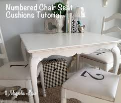 stenciled numbered chair covers 11 magnolia lane