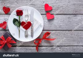 Wooden Table Top View Png Romantic Dinner Concept Valentine Day Proposal Stock Photo
