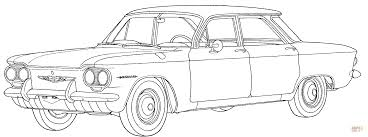 chevrolet corvair coloring page free printable coloring pages