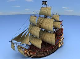 model pirate ship decks