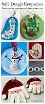 santa ornaments made from hand print in salt dough salt dough