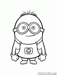 coloring page workaholic minion