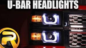 how to install anzo u bar projector headlights youtube
