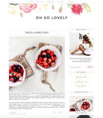 premade blogger template instant download oh so lovely
