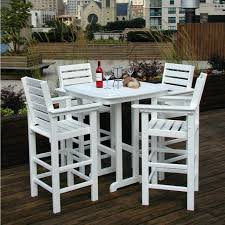 round high top table and chairs bar height patio table and chairs outdoor pub furniture design sets