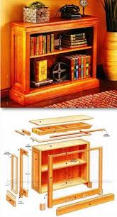 Woodworking Plans Bookshelves by Hidden Compartment Bookshelf Plans Furniture Plans And Projects