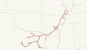 Dallas Train Map by St Louis Southwestern Railway Wikipedia