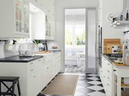 Cottage Galley Kitchen Ikea Kitchen Upper Cabinets Kitchen Decoration