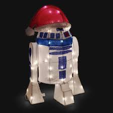 wars r2 d2 lighted indoor outdoor lawn ornament thinkgeek