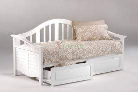 Beds With Drawers Bedroom Beautiful Seagull White Daybed With Drawers By Night And
