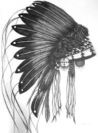 pen and ink drawing headdress two it ain u0027t hemingway