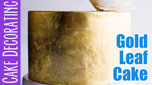 Where To Buy Edible Gold Leaf How To Add Gold Leaf To A Cake Youtube