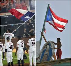 Texas Under Spain Flag Boston Sportswriter Mistakes Texas Flag For Puerto Rico Flag San