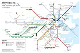 Back Bay Boston Map by Boston Rapid Transit Map With Buses U2013 Transit Maps Store