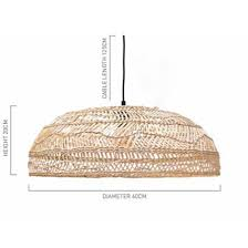 Wicker Pendant Light Pendant Medium Handwoven Wicker By Hk Living Cranmore Home