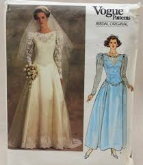 vogue wedding dress patterns vintage vogue pattern bridal original 1519 gown petticoat