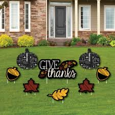 give thanks yard sign outdoor lawn decor thanksgiving yard