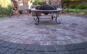 cobblestone patio outdoor fireplace ideas stovers nurani