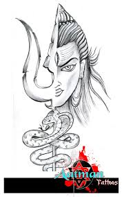 lord shiva with trishul and snake design by bhavith narayan