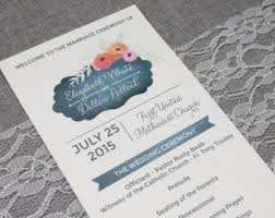 Wedding Program Chalkboard Poppy Program Etsy