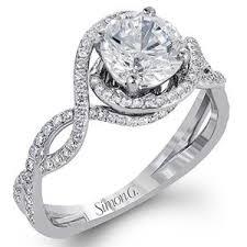 simon g engagement rings simon g twist 18k white gold engagement ring lp2304