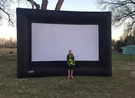 inflatable home theater system backyard theater complete 9 foot outdoor entertainment system review