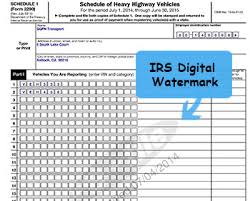 form 2290 tax computation table form 2290 schedule 1 e file irs form 2290 and get schedule 1 in