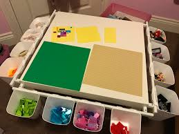 Lego Table Ikea by Homemade Lego Table For 15 50 From Ikea Needed Lack Table