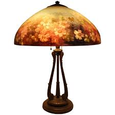 Antique Handel Desk Lamp Handel 6688 18 U201d Floral Table Lamp At 1stdibs
