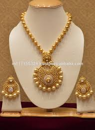 big pearls necklace images Luxurious big pearls and diamond necklace set temple jewellery jpg
