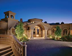 Luxury Home Plans With Pictures by Architecture Single Story Luxury Mediterranian Home Plan With