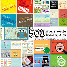 500 free printable lunchbox notes activities