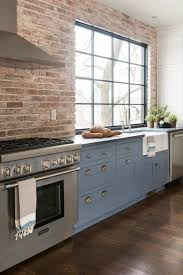 Kitchen With Brick Backsplash Best 25 Exposed Brick Kitchen Ideas On Pinterest Brick Wall