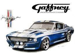 colored pencil classic mustang by thegaffney on deviantart