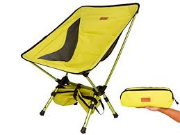trekology compact portable cing chair with adjustable height