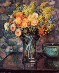blooming brushwork garden and still life flower paintings