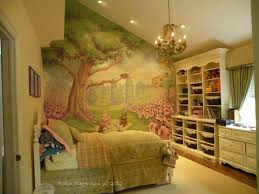 Chandelier Mural Traditional Kids Bedroom With Mural U0026 High Ceiling Zillow Digs