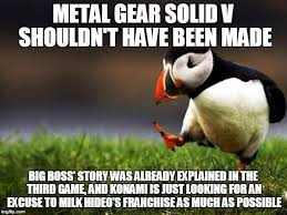Metal Gear Solid Meme - time for a new narrative imgflip