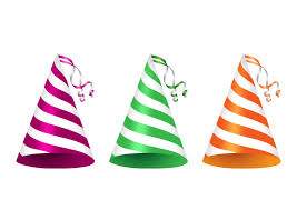 party ribbon party hats with ribbon curls