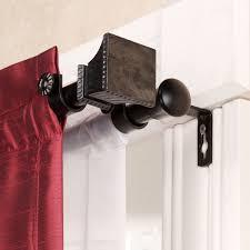 window treatments double traverse curtain rod kirsch double