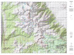 Sierra High Route Map by Mount Whitney Backpack