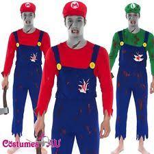 Mario Costumes Halloween Cartoon Characters Dress Costumes Men Ebay