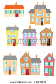 Different Styles Of Homes Different Styles Houses Stock Vector 254092633 Shutterstock