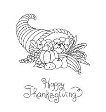 doodle thanksgiving decorative garland freehand vector image