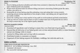Baker Resume Sample by Cake Baker Resume Reentrycorps