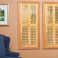 homebasics plantation light teak real wood interior shutters