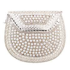 Pearl Home Decor Indian Gift Hub Metal U0026 Pearl Stued Women Hanging Purse Handicraft