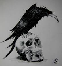 amazing skull tattoos amazing raven bird skull tattoo design u2013 truetattoos