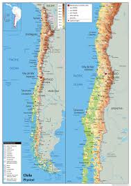 physical map of argentina chile physical map tiger moon