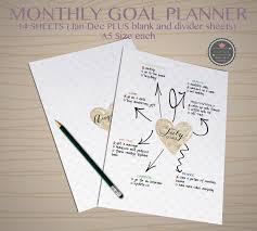 downloadable writing paper daily intention printable set of 3 digital editable monthly goal planner goal planner goal tracker printable weekly goal planner monthly planner mind map cohziiprintables note paper